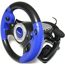 KOO Interactive - Volant 2 en 1 + Pedalier PRO WHEEL pour Console de Jeux Sony PS2 Playstation 2 et PC USB