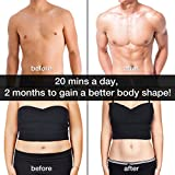 Ems Muscle Stimulator,Abdominal Muscle Toner Abs Trainer Fitness Training Gear ABS Fit Weight Muscle Training Ab Belt Toning Gym Workout Machine For Men & Women