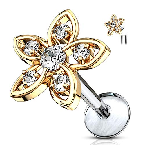 Fashion Jewelry Mixed Items & Lots Confident 14g 2mm Cz Dermal Anchor Top 316l Surgical Steel Internally Threaded Fine Craftsmanship