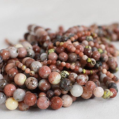 Haute qualité Grade A Fleurs de prune Rouge Naturel Jasper Pierre précieuse de pierres semi-précieuses Perles rondes - 4 mm, 6 mm, 8 mm, 10 mm Tailles - 39,4 cm Strand, approx 4mm (98-102 beads)