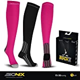 Bionix Compression Socks | Best Graduated Stockings Sock Support for Men and Women | Boost Circulation & Anti Fatigue | Running Cycling Maternity Nurses Medical Work Flight Varicose Veins