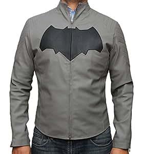Ben Affeck Batman Grey Suit Jacket - Batman vs. Superman Costume (XXL, Grey)