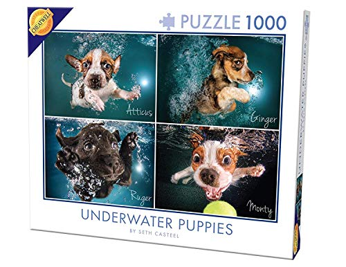 Cheatwell Games 28224Unterwasser Welpen Puzzle (1000Teile) - Hund Saw Jig Puzzle