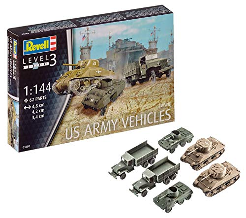 Revell - 03350 - Véhicule Us Army WWII - 62 Pièces - Echelle 1/144