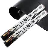 Spares2go barbacoa placa maletero resistente antiadherente revestimiento (PTFE, 40cm x 50cm, 2unidades)