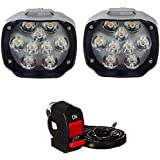 AutoPowerz (Love Enterprises) Imported 9 LED Fog Light for Cars and Bikes (Fog Light Pair with Normal Switch)