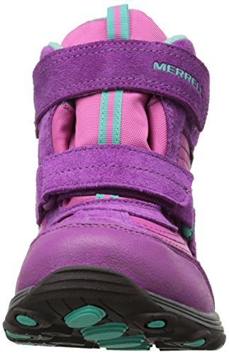 Merrell Moab Polar Mid Wtpf, Chaussures de randonnée montantes fille Rose (Pnk)