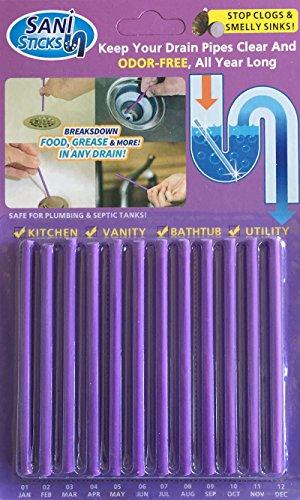 Klare Saubere Duft (zooarts 12(1Pack) Lavendel Enzymatische Ablauf Sticks–Hilft zu verhindern Verstopfungen bilden–1Jahr der Schutz Pro Paket...)