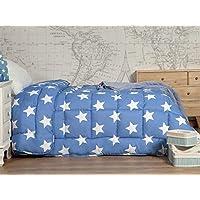 Icelands - Nórdico Estampado Estrella - Cama 90-150x220 cm - Color Azul