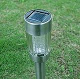 Hongge Solarlampen für außen,Solar Edelstahl Rasen Lampe wasserdicht Hof Landschaft Lampe Haushalt-Leuchten