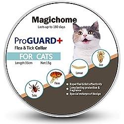 MagicHome Collar para gatos Antiparasitario contra Pulgas, Garrapatas y Mosquitos