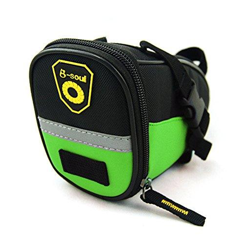aizhe Bike Radfahren reflektierende Schwanz Tasche Wasser Proof Sitz Tasche Sattel Reiten Fahrrad Tasche grün