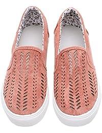 BIGTREE Sneakers Moda Slip on Donna Mesh Canvas Rimonta Romane Summer Trainer Basso Adulto Classico Walking Escursioni 2p19tiMjqO