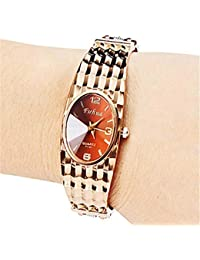 Hermosos Relojes de Oro Rosa Pulsera de Fuhua Reloj Fashion Ladies Watch
