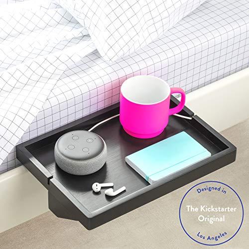 BedShelfie Das Original Nachttisch Regal - 3 Farben / 2 Größen - GESEHEN AUF Business-Insider und Kickstarter (Regulär Größe, Bambus in Schwarz)