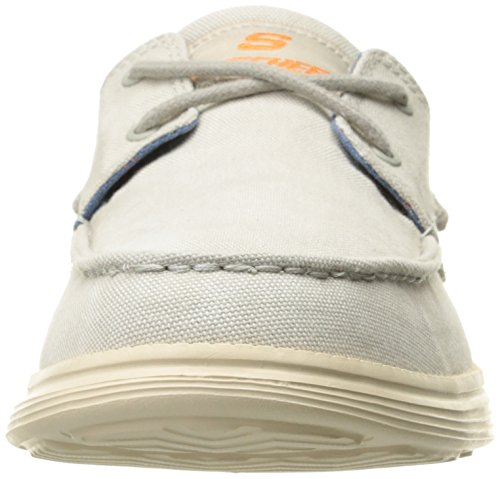Skechers Status-Melec, Chaussures Bateau Homme Off White