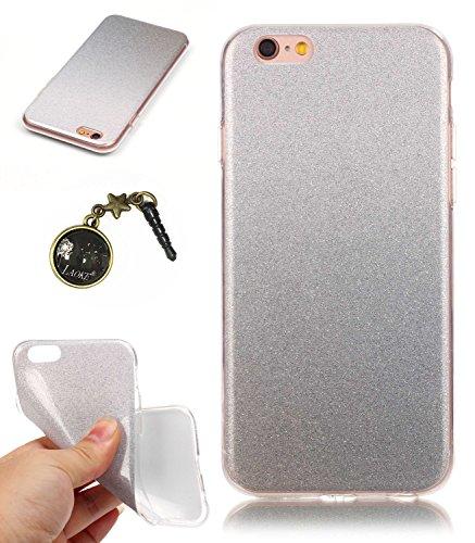 TPU Coque pour Iphone 6 (4.7 pouces), Premium Cristal Liquide Stars Sparkles Strass Coque TPU Étui Protection Bumper Housse Doux Silicone Gel Ultra Mince Case Cover pour Apple iPhone 6 (4.7 pouces) +B 14