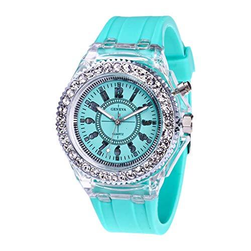 Für Kostüm Kleine Verkauf Schwester - UINGKID Damen Armbanduhr Analog Quarz Mode Transparente Neutral Leuchtende Weibliche Silikonband Sportuhr