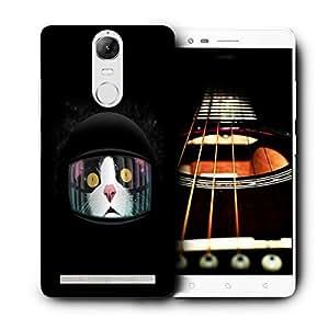 Snoogg Black Cat Designer Protective Back Case Cover For LENOVO K5 VIBE