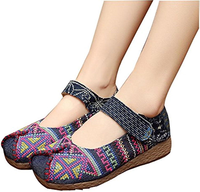 Handbestickte Schuhe der Frauen bequeme Breathable rutschfeste haltbare einzelne Schuhe chinesische Art für Damen