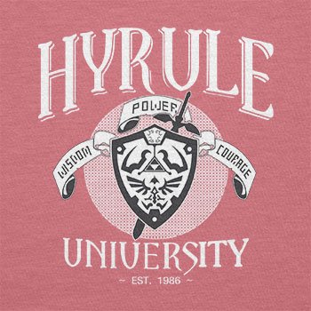 Texlab – University of Hyrule – sacchetto di stoffa Pink