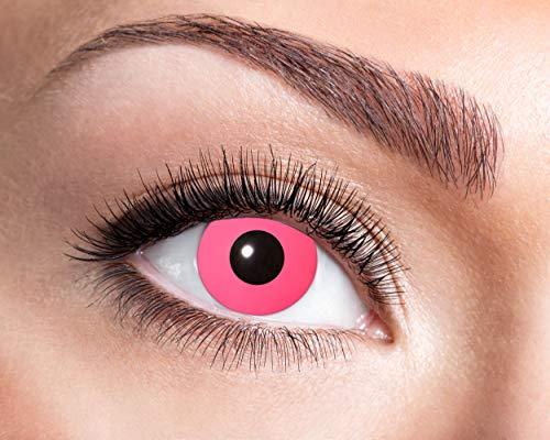 Eyecatcher - Farbige Kontaktlinsen für 12 Monate, Manga, 2 Stück Jahreslinsen, pink, / BC 8.6 mm / DIA 14.5 mm