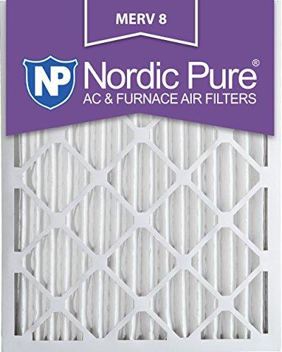 14x24x2 Ofen-filter (Nordic Pure Merv 8Bundfaltenhose AC Ofen Air Filter, Box von 3 14x24x2)