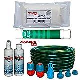 AQUA REFIT Wasserbetten Befüllschlauch Entleerschlauch für MONO Wasserbett + 1x Conditioner + Vinylreiniger + Entlüfterpumpe