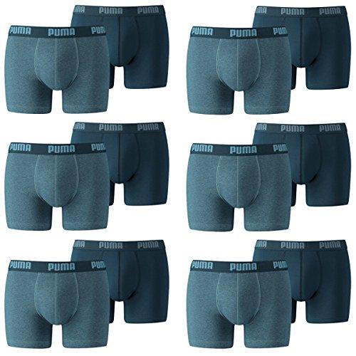 PUMA Herren Boxershorts Unterhosen 521015001 12er Pack , Wäschegröße:XXL;Artikel:-162 denim