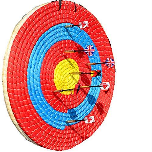 GK Draussen-Sportarten Bogenschießen Bogen Strohpfeil Ziel Traditionelles festes Stroh Rundes Ziel für Bogenschießen Bogen schießen farbiges Seilgesicht Schicht für die Praxis