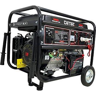 Générateur électrique 5500 W 13 CV, DeTec groupe électrogène à essence 230 V avec démarrage électrique