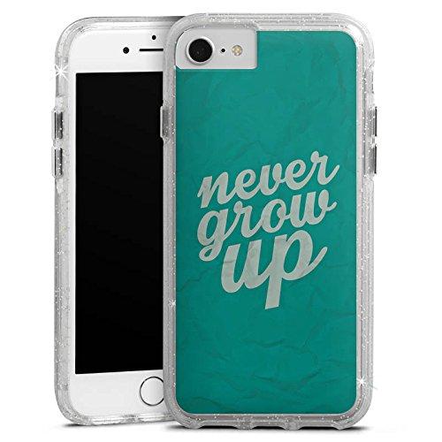 Apple iPhone 6 Bumper Hülle Bumper Case Glitzer Hülle Sayings Sprüche Phrases Bumper Case Glitzer silber