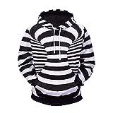 3D-Pullover 3D Striped Print Kapuzenpullover 2018 Herbst und Winter New Fat Boy Street Jugend Männer Shirt Hoodie L Lm807003#