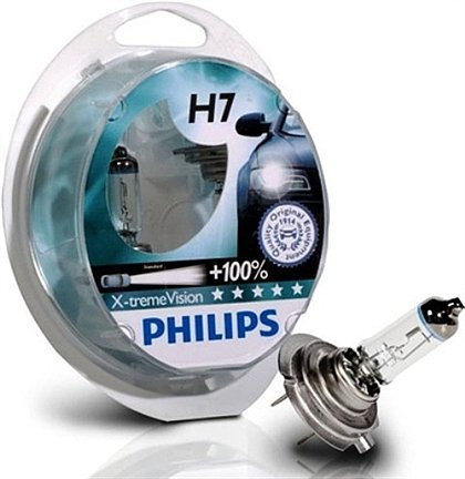 Price comparison product image H7 Philips X-treme Vision + 100% bulbs (pair)