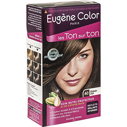 eugne color les ton sur ton n40 chtain clair coloration ton sur ton sans ammoniaque lot de 2 - Coloration Qui Tient Longtemps