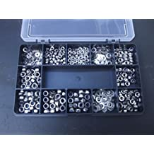 540 Assorted Nuts (Full and Nyloc) & Washers. M3, M4 & M5. A2-70 Stainless Steel