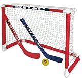 Mylec Pro Style Mini Hockey Goal Set, White