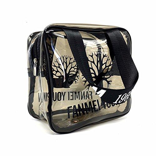 la baignade imperméables en pvc transparent fitness à sac, sac de plage, maquillage,pas de gros maillage carré