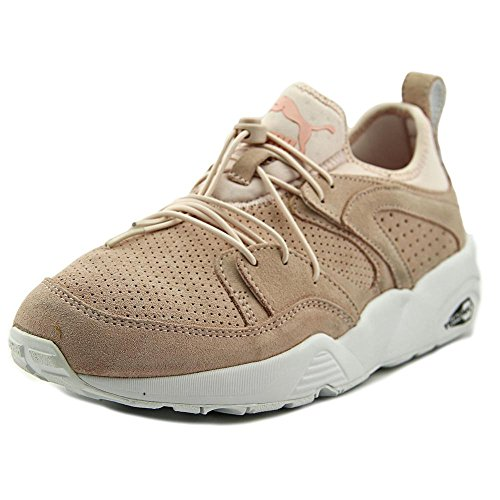 Puma Blaze of Glory Soft Wn's Daim Chaussure de Course Pink Dogwood- White