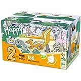 bella baby Happy Windeln Mini Größe 2 (3-6 kg) mit Urin-Indikator, 156 Stück