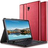 ELTD Tastatur Hülle für Samsung Galaxy Tab S4 T830/T835,(Deutsches QWERTZ-Layout),Standfunktion Hülle mit Abnehmbar Kabellose Tastatur für Samsung Galaxy Tab S4 T830/T835 10.5 Zoll 2018 (Rot)