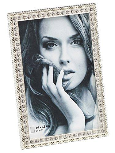 Walther WE015S Unique Portrait Frames Portraitrahmen Louise, 10 x 15 cm, Silber