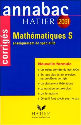 Annabac corrigés 2001 : Mathématiques S spécialité