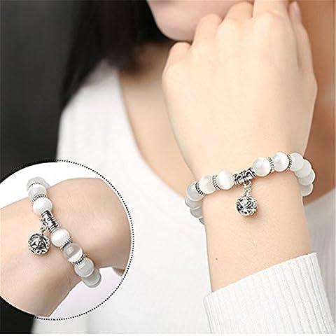 CanVivi Charm Bracelets Retro Silver Bracelet Crystal Beads Beaded Bracelet