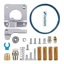 Creality Upgrade 3D-printerset met Capricorn Premium XS Bowden-slang, geüpgraded metalen toevoer-extruderframe, pneumatische koppelingen en veer op bedniveau voor Ender 3/3 Pro / 5 CR-10-serie / 10S / 20/20 Pro
