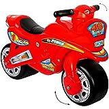 """XL Kinderlaufrad - """" Motorrad - ROT / 46 """" - Lauflernrad - für Innen & Außen - extra breite Reifen - selbstständig stehend - Rutschfahrzeug / Rutschauto - Laufrad aus Kunststoff - Plastik - Bike - Lernlaufrad - Moped / Krad - Bike - Rutschauto - Kindermotorrad / Rutschermotorrad - Roller Rutscher Enduro - Kinder / Mädchen Junge"""