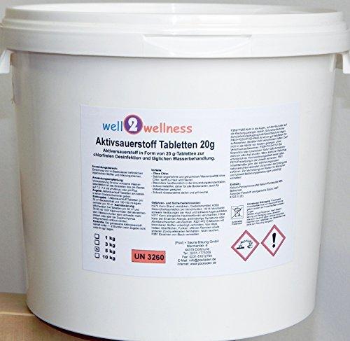 Aktivsauerstoff Tabletten 20g / Sauerstofftabs / O²-Tabs 20g chlorfrei - 5,0 kg