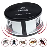 INFELING 360 Grad Ultraschall-Schädlingsabwehr, Wechselnde Frequenzwellen, Mückenschutz mit Großer Reichweite, Schädlingsbekämpfung für Kakerlaken