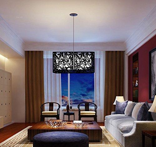 Kernorv Paravent DIY Raumteiler Sichtschutz Trennwand Wanddekorationen Hängende Wandtafel für Dekorations, Wohnzimmer, Arbeitszimmer und Sitzecke, Hotel, Bar Schwarz 12tlg - 3