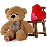 Skylofts Imported Giant 4.5 Feet Huge Teddy Bear Soft Toy - 135cm Plush Bear Birthday Gift For Girls (Light Chocolate Brown)